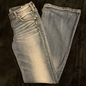 Silver Aiko Mid Flare Jeans